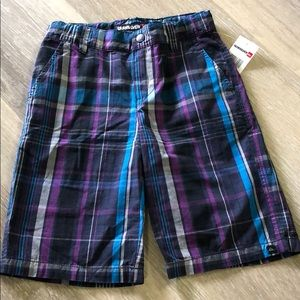 NWT Boys Quiksilver Plaid Shorts Size 5 or 6